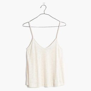 [NWT] Madewell Cropped Cami in Heathered Parchment